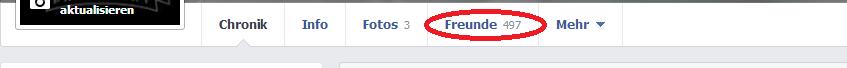 1.) Facebook Freundesliste