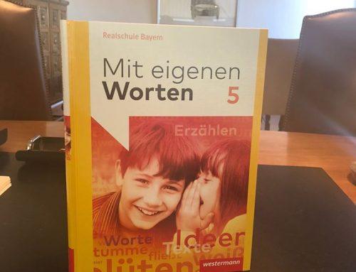 """Unser Geschäftsführer im Schulbuch """"Mit eigenen Worten"""""""